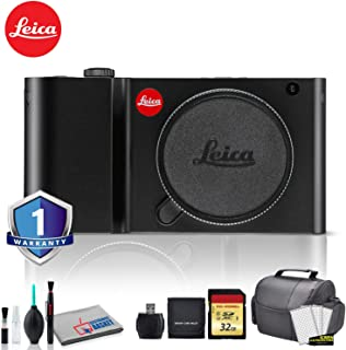 Leica TL Mirrorless Digital Camera (Black) RENEWED - Bundle with 32 GB Memory Card + LCD Screen Protectors + SD Card USB Reader and More