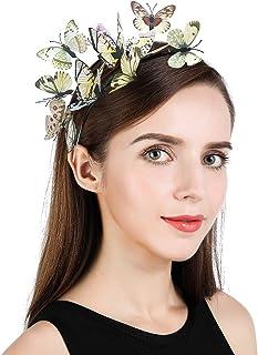 عصابة رأس فراشة فاسيناتور للنساء والفتيات قبعة كنتاكي ديربي مونارك تاج الهالوين إكسسوار أزياء للرأس