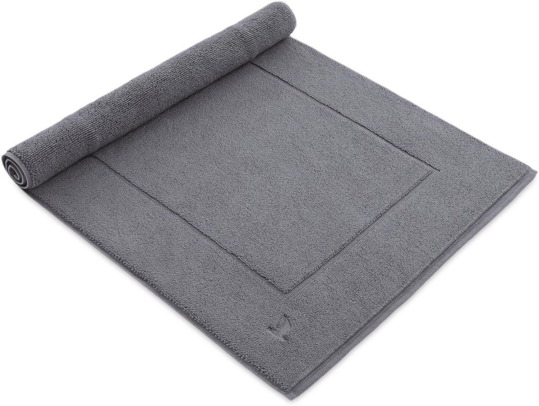 marca famosa Mve Mve Mve - Alfombrilla de bao (Tela Muy rizada) 60 x 130 cm gris  precios ultra bajos