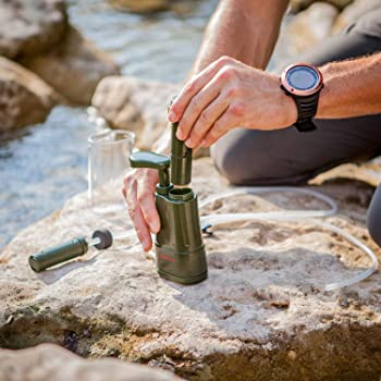 Survivor Filter Pro - Hand Pump Camping Water Filter - Emergency Water Filter