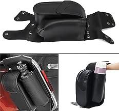 Motorcycle PU Leather Left Saddlebag Guard Crash Bar Bag with Water Bottle Holder For Harley Touring Electra Street Glide Bikes 1983-2017
