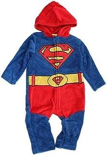 DC Comincs Grenouillère en polaire Batman et Superman pour bébé garçon