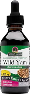 Natures Answer Wild Yam Root Organic Alcohol 2 oz