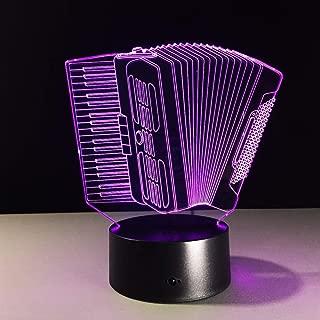 Night Light/Musical Instrument Accordion Christmas Illusion USB Decoration Halloween Child Birthday