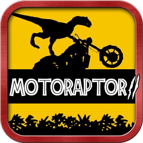 Velociraptor Moto Racer - Jurassic Dinosaur Reiter Dschungelpark