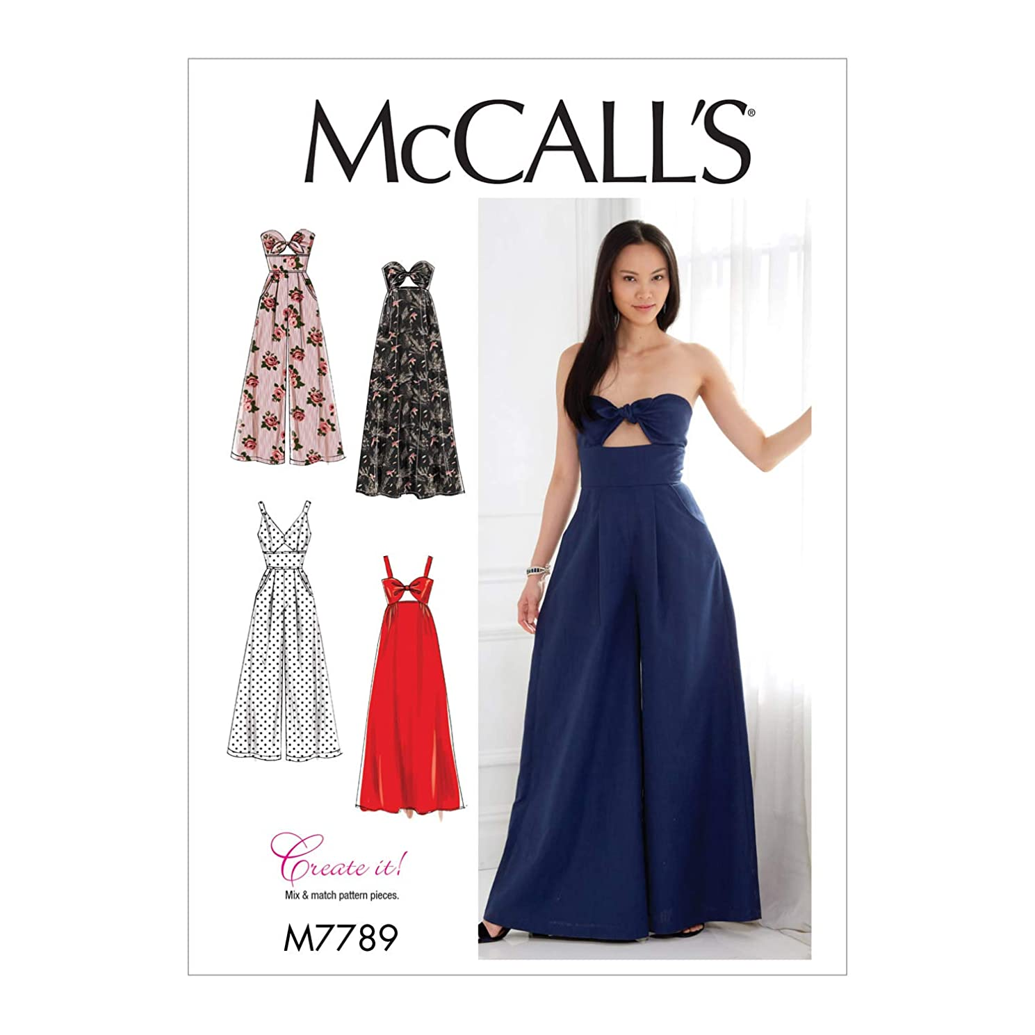 McCall's Patterns M7789 Misses' Dresses and Jumpsuits Sewing Pattern, E5 (14-16-18-20-22), Multicolor