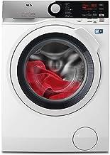 AEG L7WEE861 Lavasecadora de Libre Instalación, Carga Frontal, Lavadora 8 Kg, Secadora 6 Kg, 1600 rpm, Serie 7000, Motor Inverter, Programa Rápido, Panel LCD, Puerta XL Plateada, Blanca, Clase A