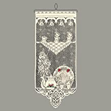 Heritage Lace Tea Time w/Roses Wall Hanging, Ecru