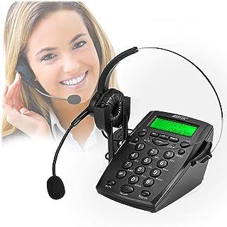 AGPtek Business / Call Center nummerplatta headset telefon med tonnummerknappplatta och återuppringning – hörlurar skrivbo...