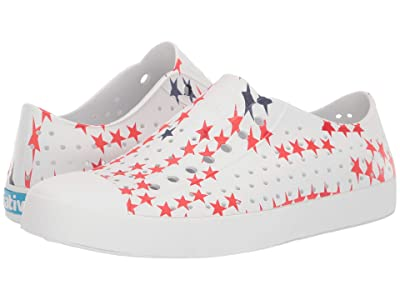 Native Shoes Jefferson (Shell White/Shell White/Little Star Print) Shoes