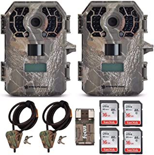 Stealth Cam G42 No-Glo Trail Game Camera STC-G42NG (2-Pack) with 2 Cables + 4 16GB Cards + Focus USB Reader