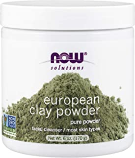 NOW Solutions, European Clay Powder, Pure Powder for a Detox Facial Cleansing Mask, 6-Ounce