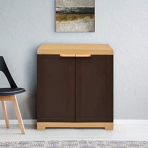 Nilkamal Freedom FS1 Plastic Cabinet Brown , 2 Doors