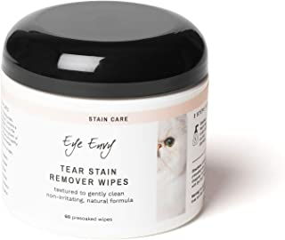Eye Envy Tear Stain Wipes for Cats   Textured to Gently...