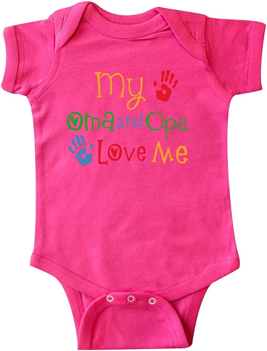 inktastic Oma latest and Opa Credence Love Infant Me Grandchild Creeper