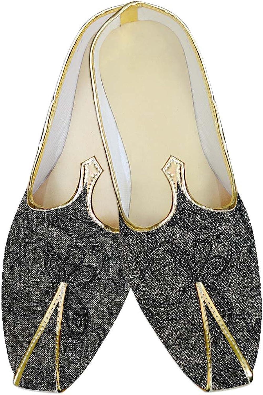 INMONARCH Herren Dunkel Grau Blaumen Jute Polyester Hochzeit Schuhe MJ015384  | Schenken Sie Ihrem Kind eine glückliche Kindheit