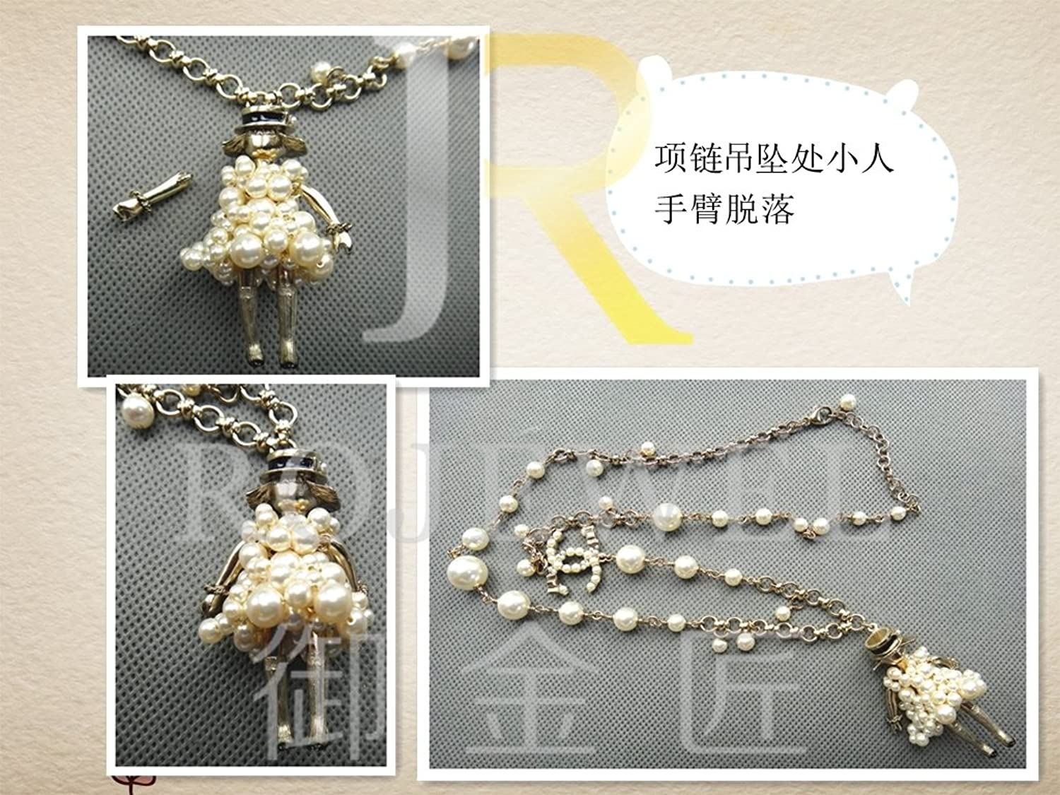 Continuing from Luxury Necklace Pendant Fracture Repair Damage Change Length snap Fastener gem Pearl Inlaid Reinforcement