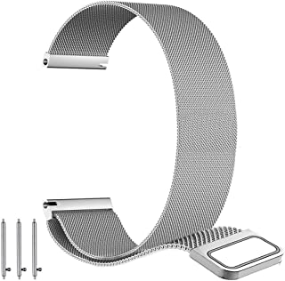 BarRan Watch Band for Forerunner 645, 20mm Milanese loop mesh Quick Release Magnetic Clasp Stainless Steel Replacement Wat...