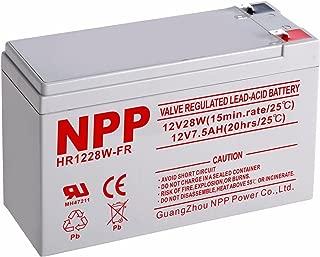 NPP NP1228W FR 12V 28W(15min.Rate) 12V 7.5Ah High Rate UPS Rechargeable Sealed Lead Acid Battery F2 Terminals