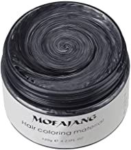 MOFAJANG Unisex Hair Wax Color Dye Styling Cream Mud, Natural Hairstyle Pomade, Washable Temporary,Party Cosplay (Black)