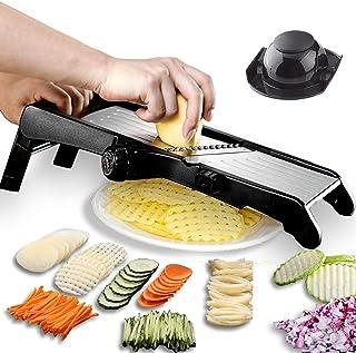 GProMe Mandoline Slicer – Adjustable Thickness Vegetable Mandolin, Fruit Potato Slicer, French Fry Cutter, Food Waffle,Jul...