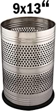 Kuber Industries Stainless Steel Garbage Dustbin, 10 litres, Silver