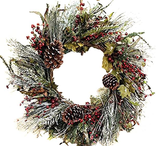 Frosted Morning Winter Door Wreath