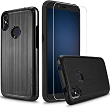 Blu Studio Mega 2018 Case with Screen Protector, BLU Advance A6 2018 Blu Go, Shockproof Absorption Anti Scratch Rugged High Impact Hybrid Slim Protector Case