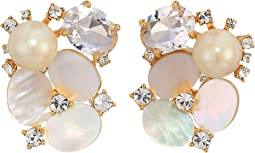 Disco Pansy Cluster Studs Earrings