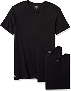 4e28f4ede Lacoste Men s Cotton Crew-Neck T-Shirt Undershirt (3-Pack)