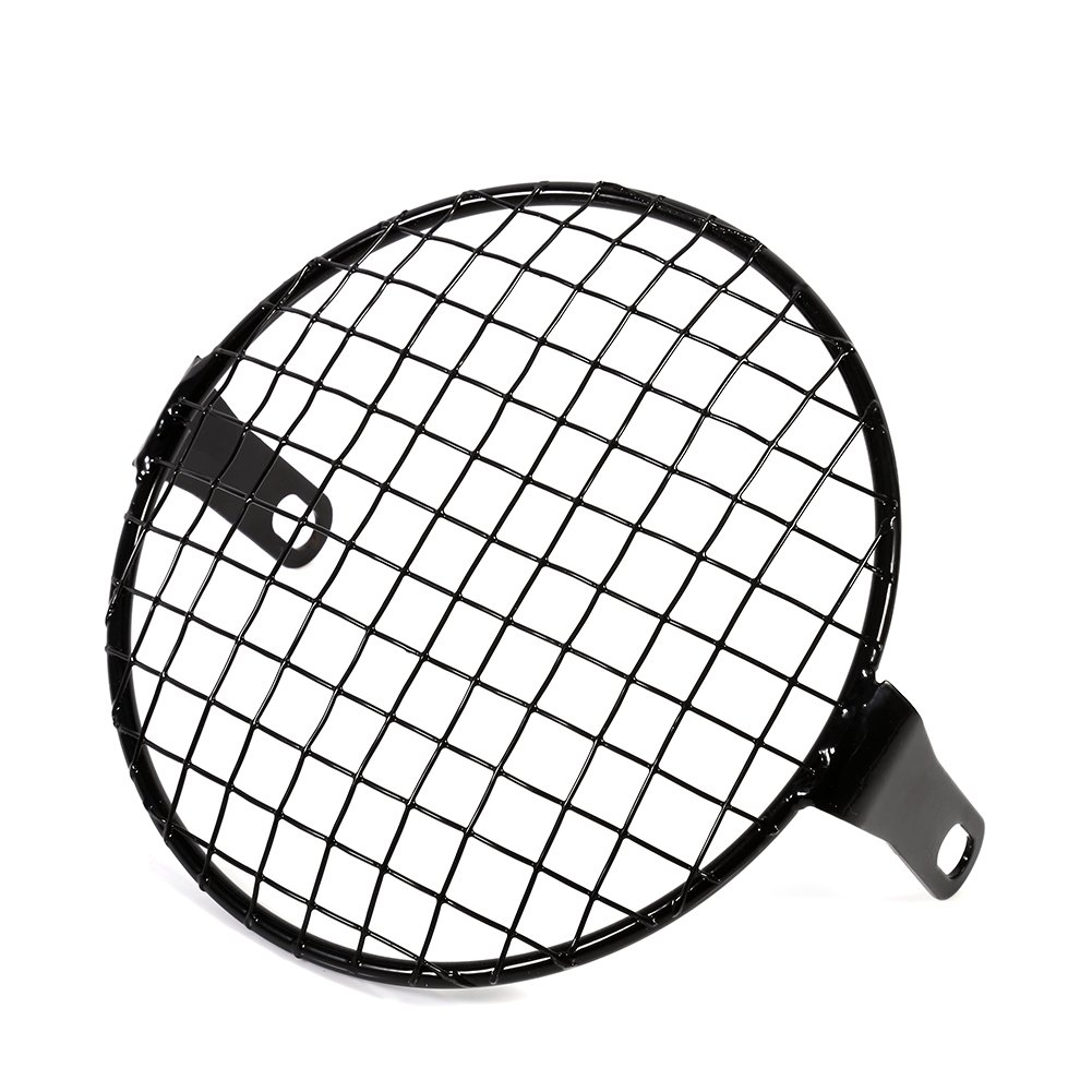 Yosoo 16cm Metal Mesh Grill Headlight Protector Guard Cover for Motorcycle Black