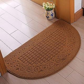 EKDJKK Half Round Door Mat Entrance Rug Floor Mats, Waterproof Floor Mat Shoes Scraper Doormat, 16''x23.5'' Patio Rug Dirt...