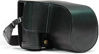 MegaGear MG870 någonsin färdigt läderfodral och rem med batteriåtkomst för Fujifilm X-T2 kamera – svart