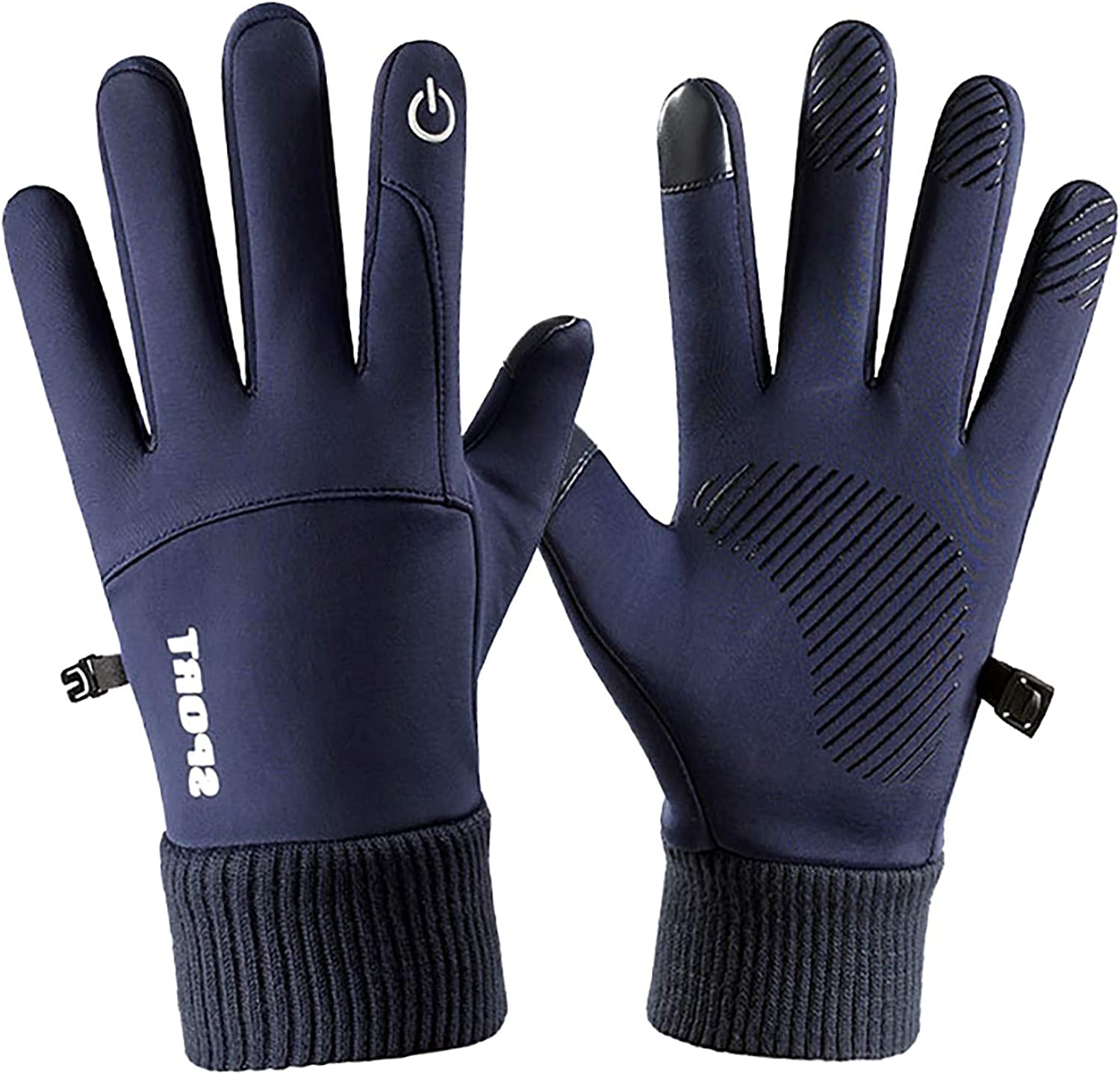 FACAIAFALO Winter Knits Gloves Snowing Unisex Touchscreen Texting Anti-Slip Fingertips Elastic Thermal Outfits