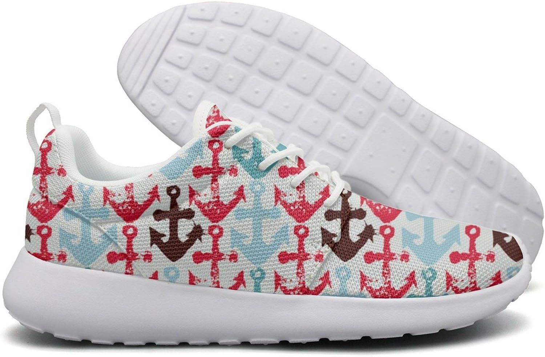 Hoohle Sports Anchor Imprints Boat Anchor Hook Womens Roshe One Flex Mesh Running shoes Men