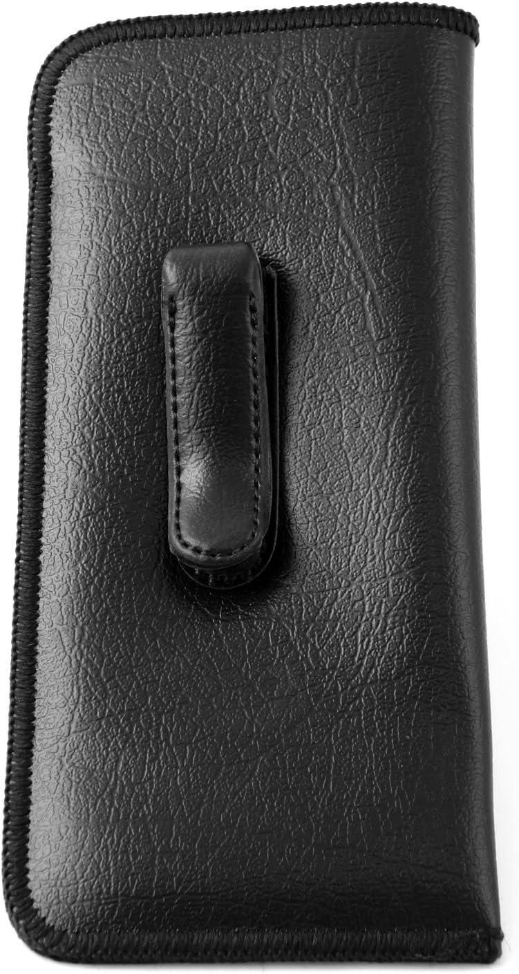 Mens Soft Slip-in Case w/Metal Clip Medium Sized in Black