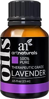 ArtNaturals 100% Pure Lavender Essential Oil - (.5 Fl Oz / 15ml) - Premium Undiluted Therapeutic Grade Natural From Bulgaria - Sleep, Relaxation