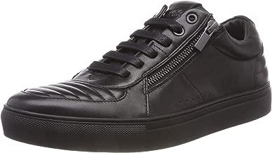 Hugo Boss Footwear Futurism_Tenn All Black Leather Trainer