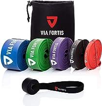 Via Fortis Premium fitnessbanden met tas en handleiding met oefeningen, weerstandsbanden voor crossfit, calisthenics of fr...