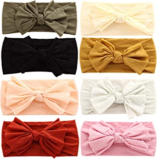 Baby Nylon Newborn Headbands Baby Girl Bow Headband...