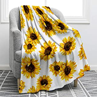Jekeno Sunflower Throw Blanket Smooth Soft Blanket for Kid Baby Sofa Chair Bed Office Travelling Camping Women Gift 50