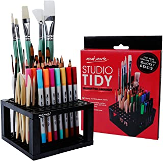 Mont Marte 96 Hole Plastic Pencil & Brush Holder for Paint Brushes, Pencils, Markers, Pens and Modeling Tools. Provides Ex...