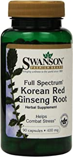 Swanson Premium Full-Spectrum Korean Red Ginseng Root 400 mg 90 Caps - Pack of Two