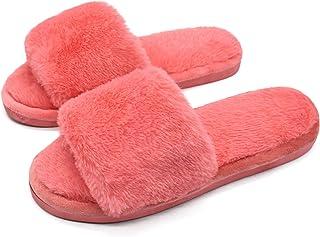 Mujer Elegante Bettenhaus Zapatos Warmer Peluche Chanclas algodón Pantuflas Antideslizantes Guantes para otoño/Invierno
