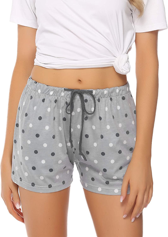 Hawiton 1 /& 2 Pack Womens Plaid Cotton Sleeping Pajama Shorts Lounge Boxer Drawstring Bottoms