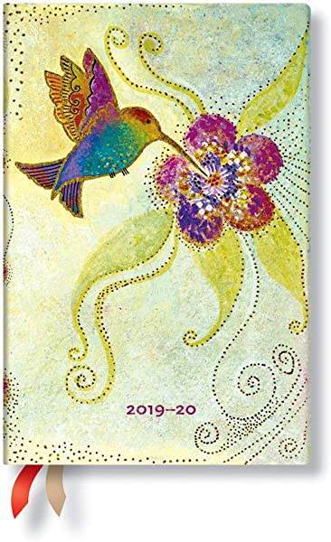 Mini 2019 2020 18 Month Paperblanks Academic Weekly Planner 4 X 5 5 Horizontal Hummingbird