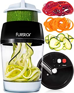 fullstar Vegetable Spiralizer Vegetable Slicer – 3 in 1 Zucchini Spaghetti Maker..