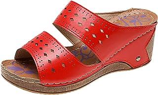 BRISEZZ dames sandaal, zomermode plus size wiggen pantoffel mode holle open teen wiggen Romeinse sandalen dames casual ade...