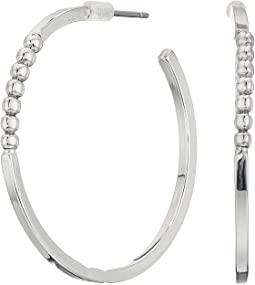 Large Ball C Hoop Earrings