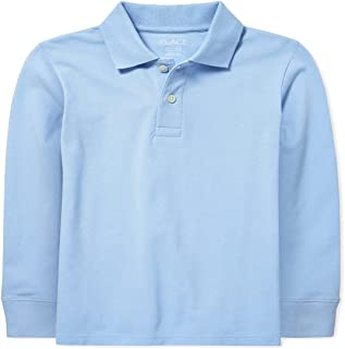 The Children's Place Boys' Uniform Long Sleeve Pique Polo School Shirt
